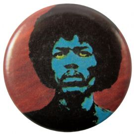 Jimi Hendrix - 'Blue Face' Button Badge